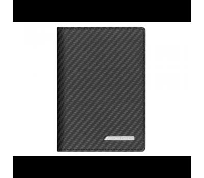 Кожаный футляр для автодокументов и кредиток Mercedes-Benz, AMG, Carbon Look