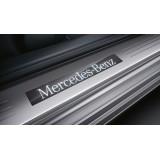 Молдинги порогов Mercedes C218 дорестайл (2011-2014)