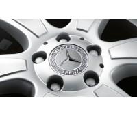 Крышка ступицы колеса, Звезда з лавровым венком, класический дизайн, серый для Mercedes