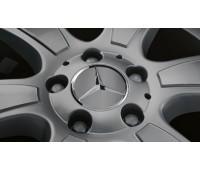 Крышка ступицы колеса, Звезда, матово-темно-серый для Mercedes