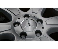 Крышка ступицы колеса, Звезда, темно-серый для Mercedes