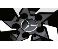 Крышка ступицы колеса, Звезда, матово-черный для Mercedes