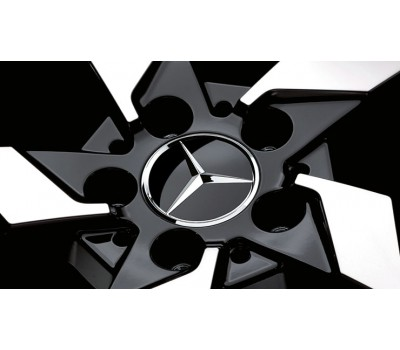 Крышка ступицы колеса, Звезда, черный для Mercedes