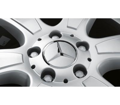 Крышка ступицы колеса, Звезда, серый для Mercedes