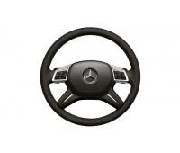 Кожаное рулевое колесо с Tiptronic и подогревом коричневый для Mercedes W166