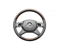 Кожаное рулевое колесо светло-коричневый/серый для Mercedes W166