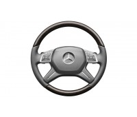 Кожаное рулевое колесо серый/коричневый для Mercedes W166