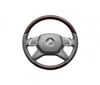 Кожаное рулевое колесо коричневый/серый для Mercedes W166