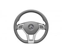 Кожаное рулевое колесо SPORT серый для Mercedes A207, C207