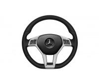 Кожаное рулевое колесо, с поддержкой Lane Keeping Assist кожа, черный для Mercedes C204, S204, W204