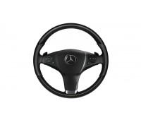 Кожаное рулевое колесо дерево/кожа черный для Mercedes A207, C207