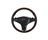Кожаное рулевое колесо дерево/кожа черный/коричневый для Mercedes A207, C207