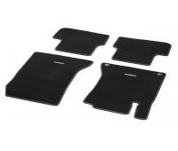 Велюровые коврики CLASSIC, комплект, 4 шт. черные с коричневой окантовкой для Mercedes W176, W246, C117, X117, X156