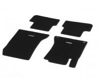Велюровые коврики SPORT, комплект, 4 шт. черные с красной строчкой для Mercedes C117, X117, X156