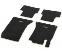 Велюровые коврики CLASSIC, комплект, 4 шт. черные с бежевым кантом для Mercedes C117, X117, X156