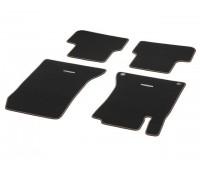 Велюровые коврики CLASSIC, комплект, 4 шт. черные с коричневым кантом для Mercedes C117, X117, X156