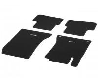 Велюровые коврики CLASSIC, комплект, 4 шт. черные для Mercedes C117, X117, X156