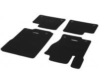 Велюровые коврики CLASSIC, комплект, 4 шт. Черные для Mercedes C292, W166, X166