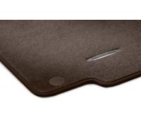 Велюровые коврики CLASSIC, комплект, 4 шт. коричнивые для Mercedes X204