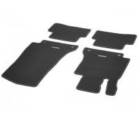 Велюровые коврики SPORT, комплект, 4 шт. черные с красной строчкой для Mercedes S205, W205