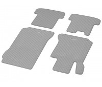 Репсовые коврики CLASSIC, комплект, 4 шт. серые для Mercedes C204, A207, C207