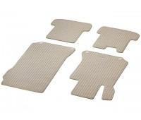 Репсовые коврики CLASSIC, комплект 4 шт. Бежевые для Mercedes A207, C207