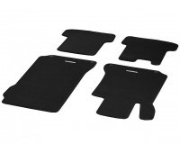 Велюровые коврики CLASSIC, комплект, 4 шт. черные для Mercedes C204, A207, C207
