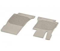Всесезонные передние коврики CLASSIC бежевые для Mercedes S213, W213