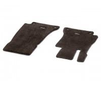 Велюровые коврики EXCLUSIV передние, коричнивые для Mercedes S213, W213