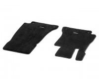 Велюровые коврики EXCLUSIV передние, черные для Mercedes S213, W213