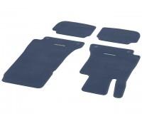 Велюровые коврики CLASSIC, комплект, 4 шт. темно-синие для Mercedes A238, C238