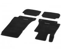 Велюровые коврики CLASSIC, комплект, 4 шт. черные для Mercedes A238, C238