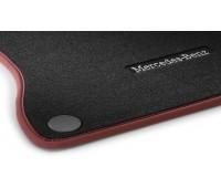 Велюровые коврики CLASSIC, комплект, 4 шт. Черные с красной окантовкой для Mercedes W242EV