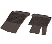 Всесезонные передние коврики CLASSIC коричнивые для Mercedes C253, X253