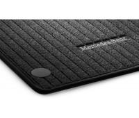 Репсовые передние коврики CLASSIC черные для Mercedes C253, X253
