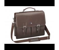 Мужской кожаный портфель Mercedes-Benz business bag, Vintage Star