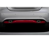 Диффузорная задняя отделка фартука, 2-трубная загрунтованный для Mercedes W176